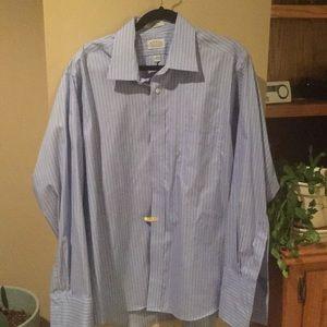 Other - Men's blue pinstripe dress shirt